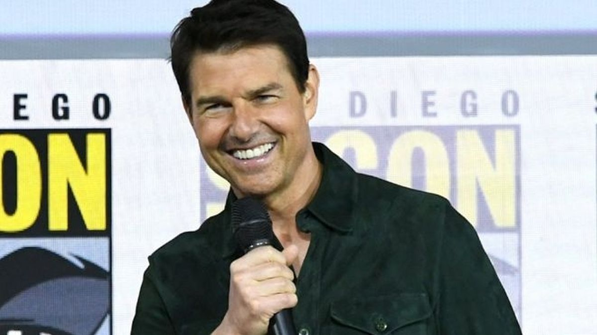 """Tom Cruise apresenta o trailer de """"Top Gun 2: Maverick"""" em San Diego."""