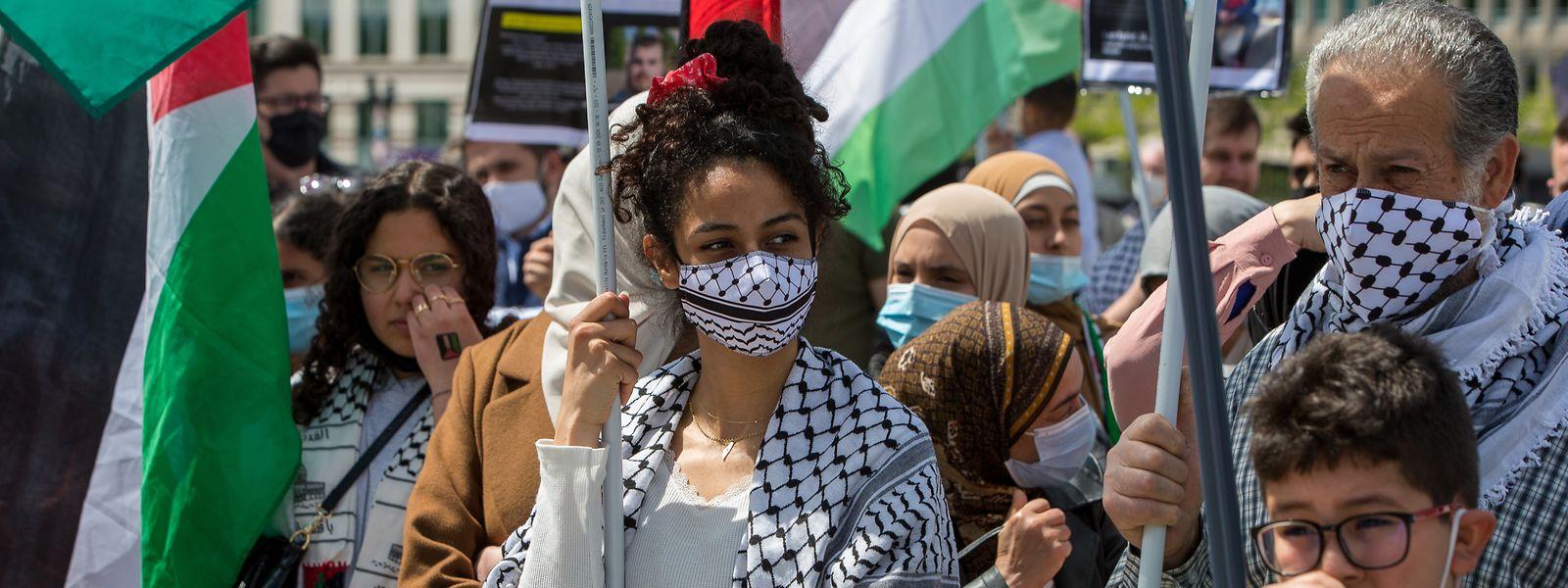 """Es ist bereits die zweite """"Free Palestina""""-Demo in Luxemburg."""