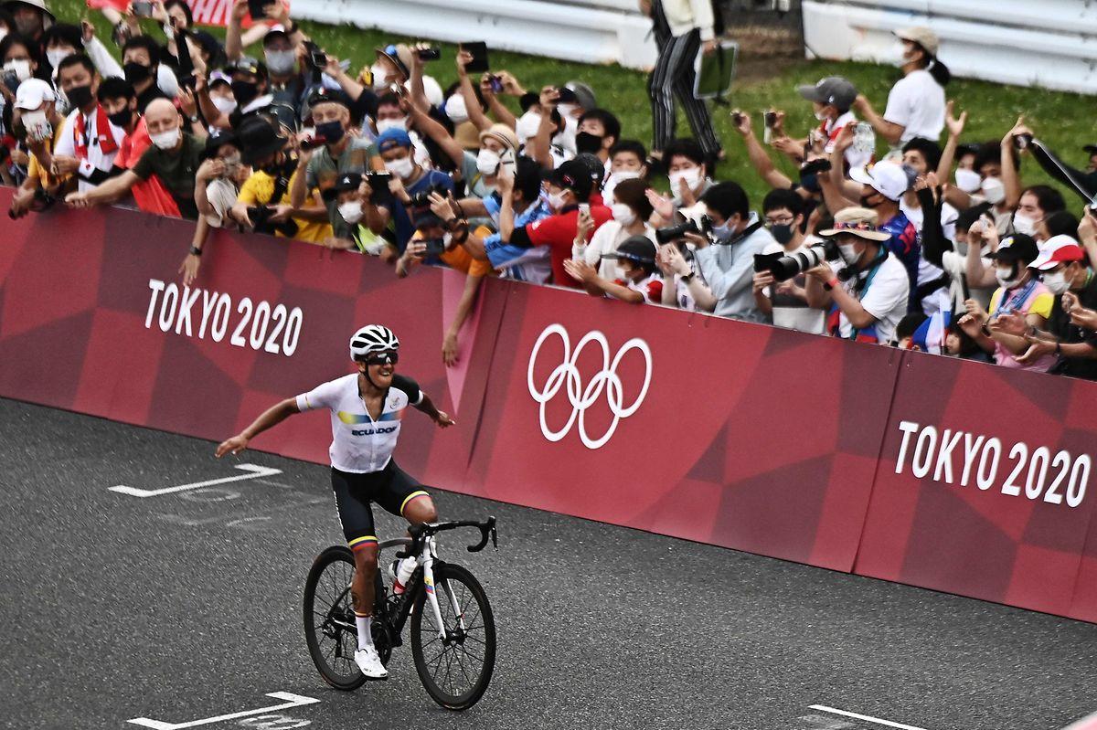 Der ehemalige Giro-Gewinner Richard Carapaz war nicht aufzuhalten.