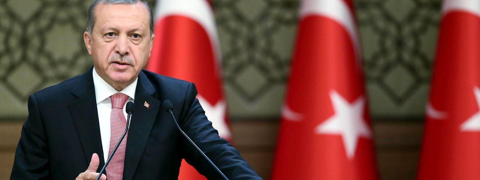 Recep Tayyip Erdogan kritisiert den Westen.