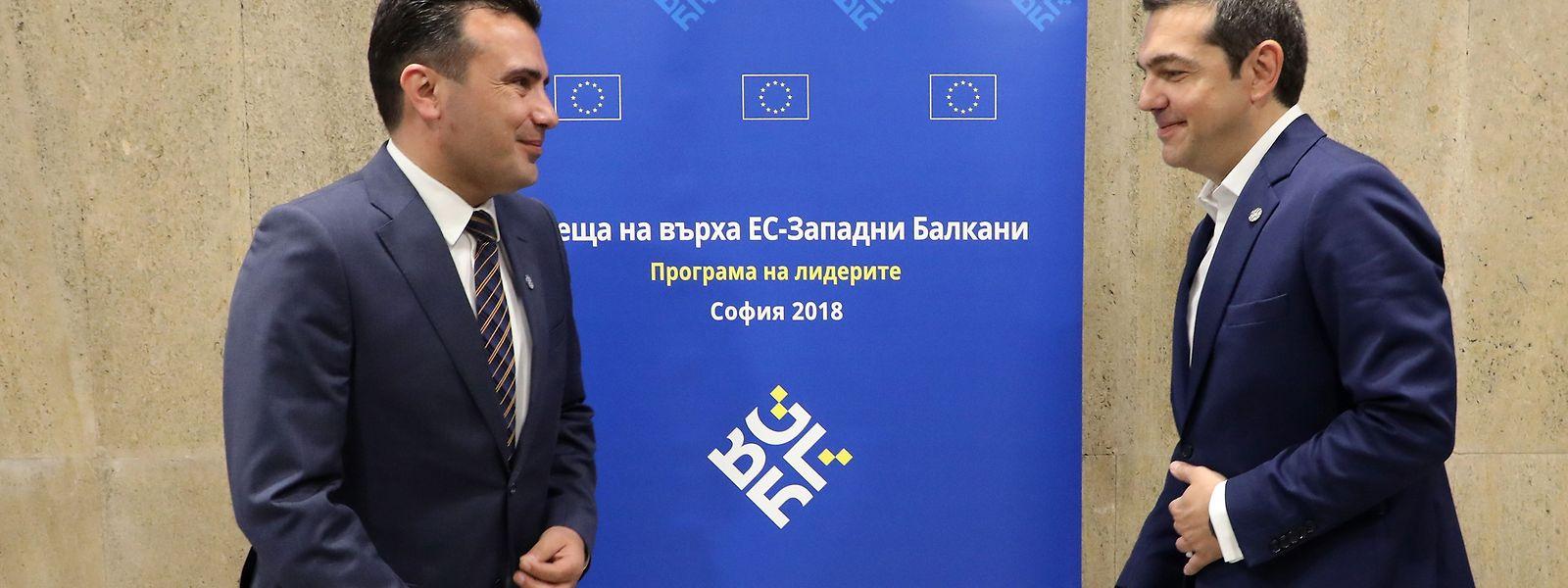 Zoran Zaev (Mazedonien) und Alexis Tsipras (Griechenland)