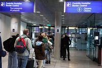 online.fr, Findel, Polizei, Brexit, Fluggäste werden kontrolliert, Kontrolle am Flughafen,  Foto: Anouk Antony/Luxemburger Wort