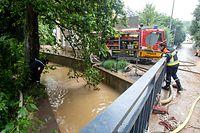 Hochwasser nach Starkregen , Ernzen  , Fiels , Aufräumarbeiten Foto:Guy Jallay/Luxemburger Wort
