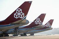 WI.Cargolux,  wegen Coronavirus bleiben mehrer Flugzeuge am Boden.  Foto: Gerry Huberty/Luxemburger Wort