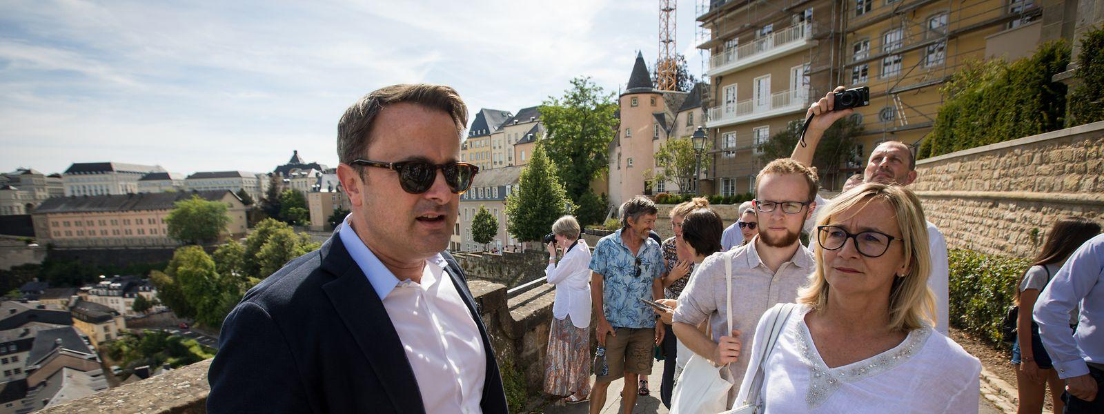 Premierminister Xavier Bettel: Als Stadtführer in seinem Element.