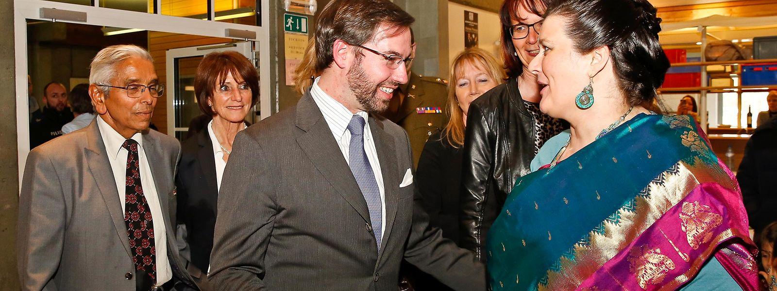 Erbgroßherzog Guillaume besuchte am Sonntag den Bazar Aide à l'Enfance de l'Inde in Sandweiler.