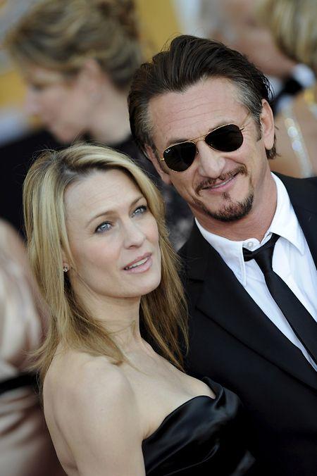 US-Schauspieler Sean Penn und seine damalige Ehefrau Robin Wright Penn im Jahr 2009.