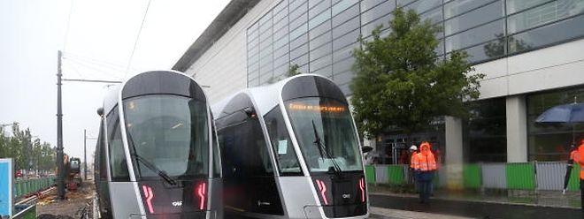 Die Tram in Kirchberg