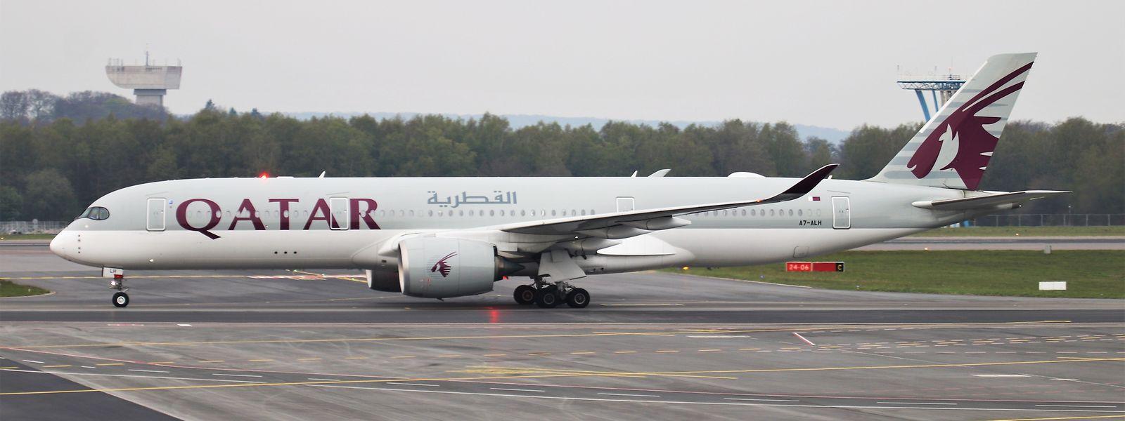 Ein Airbus A350-941 von Qatar Airways landete am Freitag in Luxemburg-Findel.