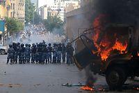 In Beirut ist es am Samstag zu Zusammenstößen mit Sicherheitskräften gekommen.