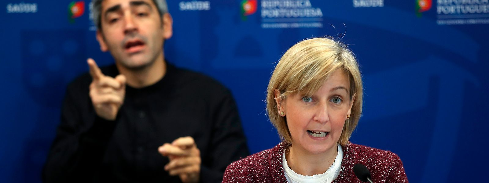 A ministra da Saúde, Marta Temido, na conferência de imprensa diária sobre o novo coronavírus (covid-19) realizada no Ministério da Saúde, em Lisboa, 28 de março de 2020.