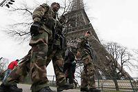 Französische Soldaten.