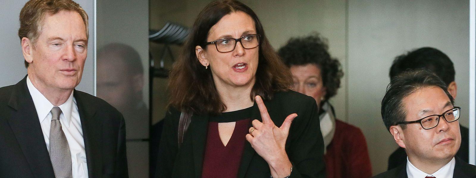 Cecilia Malmstrom hat am Samstag den Durchbruch mit dem mexikanischen Wirtschaftsminister Ildefonso Guajardo Villarreal erzielt.