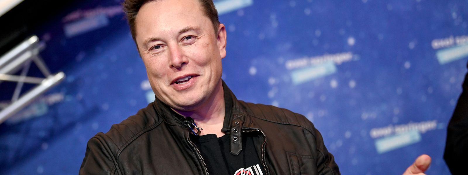 Elon Musk, Tesla-CEO, bei der Verleihung vom Axel Springer Award. Elon Musk wird am 28. Juni 50 Jahre alt.