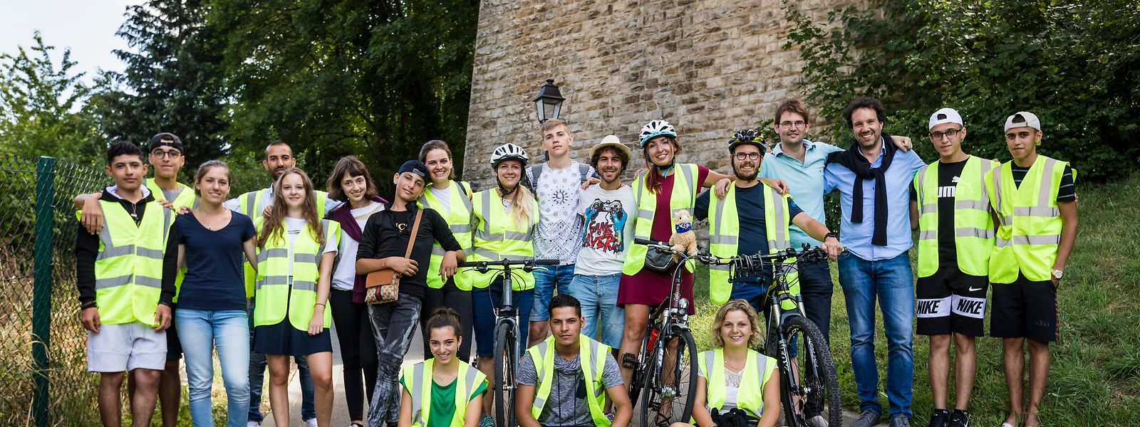 Das Ziel erreicht: Ein Tag nach der Ankunft in Luxemburg-Stadt strahlen die YOUrovelo-Teilnehmer noch immer – auch nach mehr als 185 zurückgelegten Kilometern per Fahrrad.