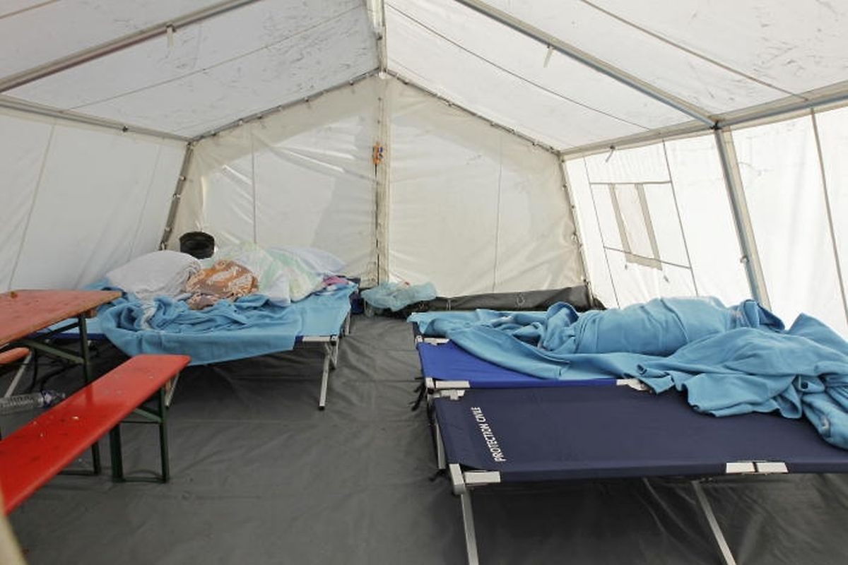 Im Herbst 2011 wurden Flüchtlinge auf Campingplätzen untergebracht, weil Erstaufnahme-Einrichtungen fehlten.