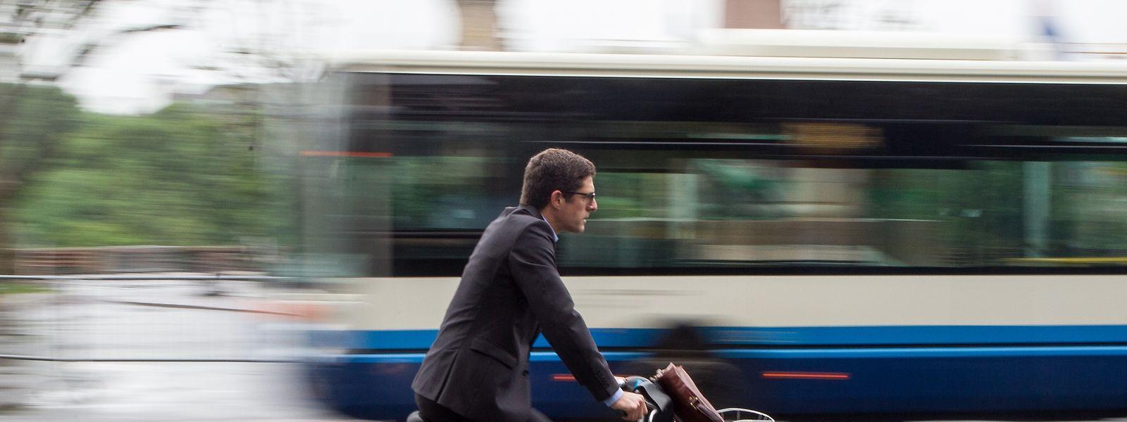 Immer mehr Luxemburger steigen auf umweltschonende Verkehrsmittel um.