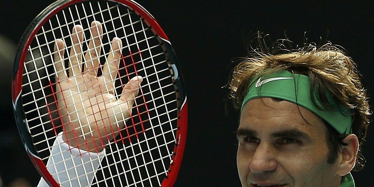 Le Suisse Roger Federer retrouve de dernier carré de l'Open d'Australie, après l'avoir manqué l'année passée