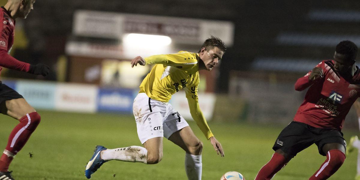 Dave Turpel a répété ses gammes avant de rejoindre la sélection en inscrivant deux buts contre Strassen.