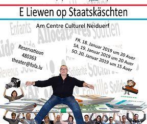 """Theater """"E Liewen op Staatskäschten""""  am Centre Culturel Neiduerf"""