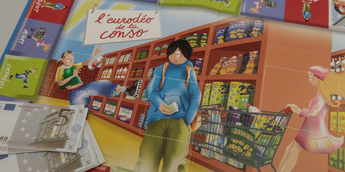 """Spielend den sinnvollen Umgang mit Geld lernen: Das ist das Ziel des Spiels """"Eurodéo de la conso"""", das auch während der Woche des Geldes zum Einsatz kommt."""