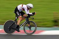 28.07.2021, Japan, Oyama: Radsport: Olympia, Oyama (44,20 km), Männer, Einzelzeitfahren auf dem Fuji International Speedway. Nikias Arndt aus Deutschland auf dem Kurs. Foto: Sebastian Gollnow/dpa +++ dpa-Bildfunk +++