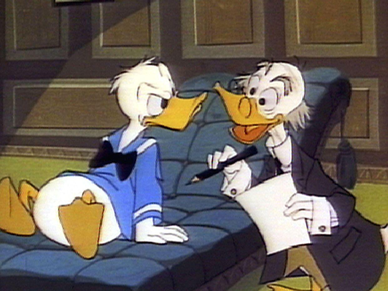 """""""Down And Out With Donald Duck"""": Ein Psychologe erklärt Donald, was er zu tun hat, damit er besser mit seiner Umwelt klarkommt."""