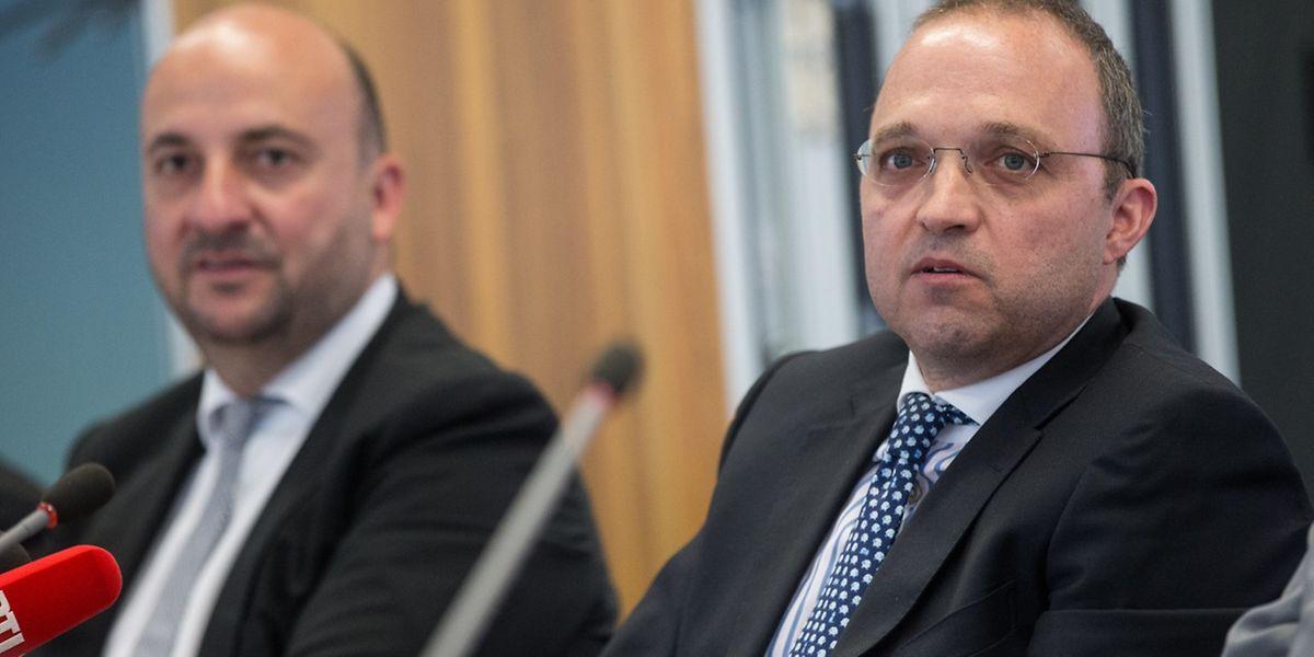 Kyriakos Filippou, directeur opérationnel de Fage International, et le ministre de l'Economie Etienne Schneider ont présenté le projet ce jeudi.