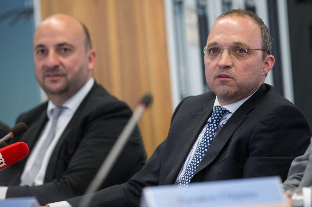 Fage-Manager Kyriakos Filippou und Wirtschaftsminister Etienne Schneider stellten das Projekt im Juli 2016 vor.