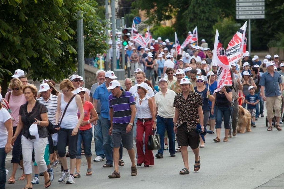 2014 hatten vor allem Sassenheimer Bürger gegen die Pläne einer Umgehungsstraße protestiert.
