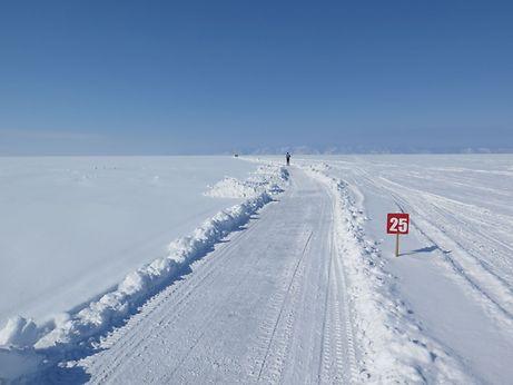 Johannes Fahner: «Ce lac est un gigantesque plateau blanc. Je n'avais jamais rien vu de semblable».