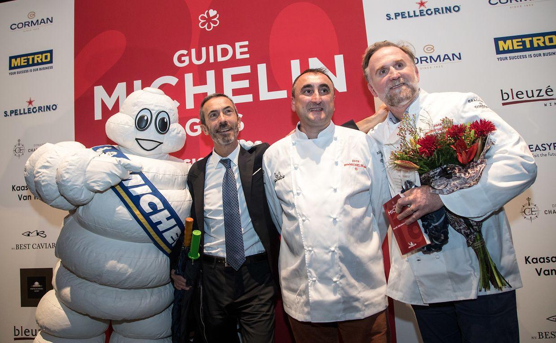 Ilario Mosconi, Christophe Quentin et Cyril Molard à Gand.