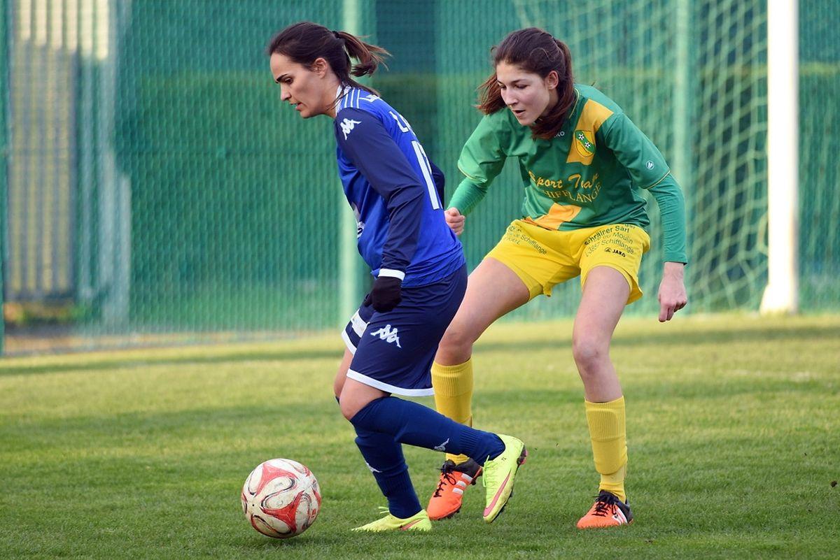 Tania Lopes et les filles du Racing ont fait le nécessaire contre le FC Schifflange de Julia Battisti