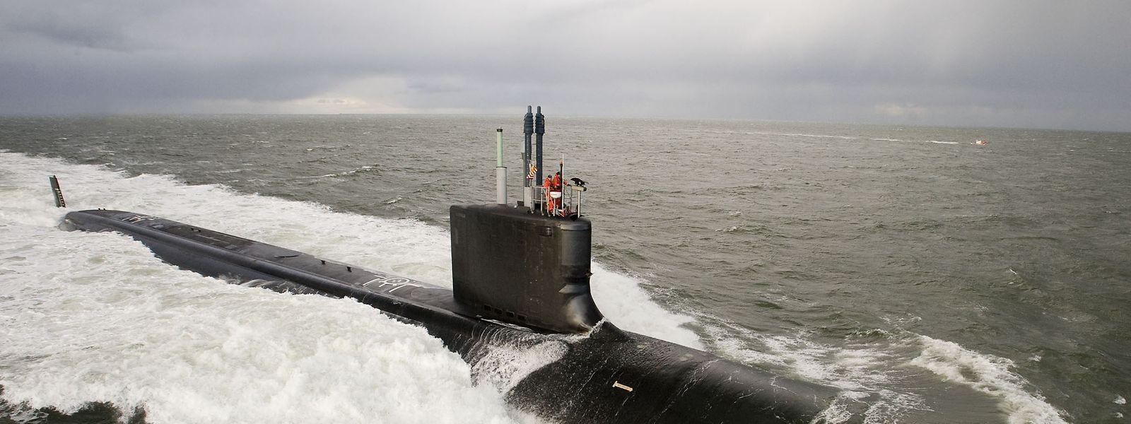 Ein U-Boot der Viriginia-Klasse auf Testfahrt.