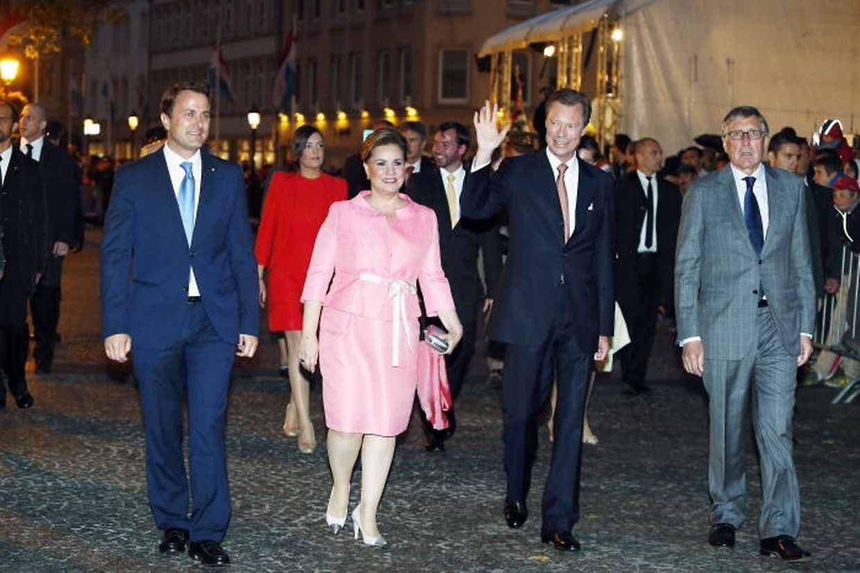 Le grand-duc Henri et la grande-duchesse Maria Teresa arrivent à Luxembourg