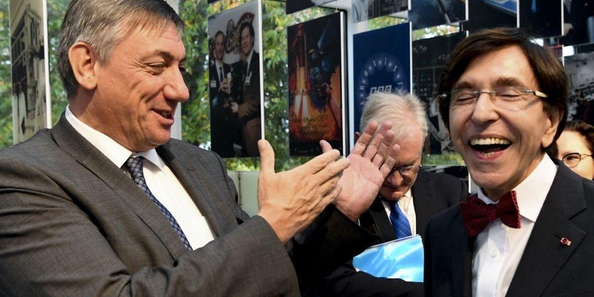 La visite d'Etat au Luxembourg a permis au socialiste Elio Di Rupo et au nationaliste Jan Jambon de se rencontrer.