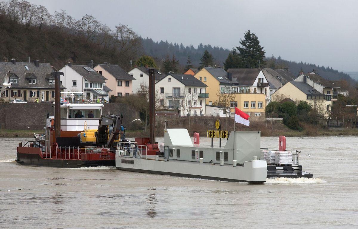 Am Montagnachmittag fuhr das Schiff gegen 15.30 Uhr in Wasserbillig ein.