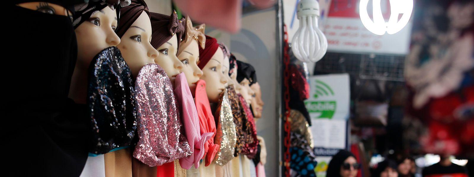 Dans une boutique de vêtements à Gaza.