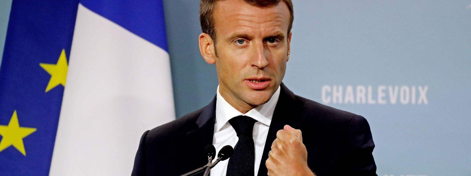 "Emmanuel Macron acusou Trump de ""incoerência"" e ""inconsistência"""
