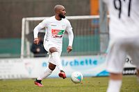 Yannick Kakoko (Titus Petingen 6) / Fussball, Nationdivision, Titus Petingen - Fola / 08.03.2020 / Petingen / Foto: Christian Kemp