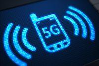 5G on digital screen