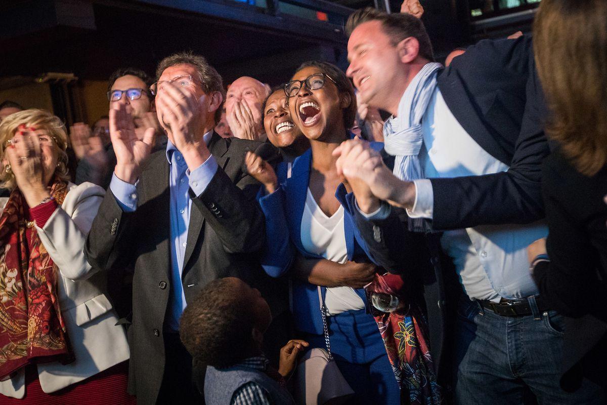 Die Liberalen waren angesichts des guten Resultats nach den Europawahlen ganz aus dem Häuschen.