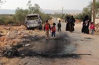 Imagem captada após ataque militar, no sábado passado, contra elementos de um grupo com ligações à al-Qaida, na Síria