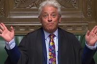 "A video grab from footage broadcast by the UK Parliament's Parliamentary Recording Unit (PRU) shows Speaker of the House of Commons John Bercow chairing after the results of a motion for an early parliamentary general election, a motion that did not carry, were announced in the House of Commons in London on September 10, 2019. - British MPs rejected a second attempt by Prime Minister Boris Johnson on September 10 to call an early election to break the Brexit deadlock, in a final show of defiance before he controversially suspends parliament. (Photo by HO / PRU / AFP) / RESTRICTED TO EDITORIAL USE - MANDATORY CREDIT "" AFP PHOTO / PRU "" - NO USE FOR ENTERTAINMENT, SATIRICAL, MARKETING OR ADVERTISING CAMPAIGNS - EDITORS NOTE THE IMAGE HAS BEEN DIGITALLY ALTERED AT SOURCE TO OBSCURE VISIBLE DOCUMENTS"