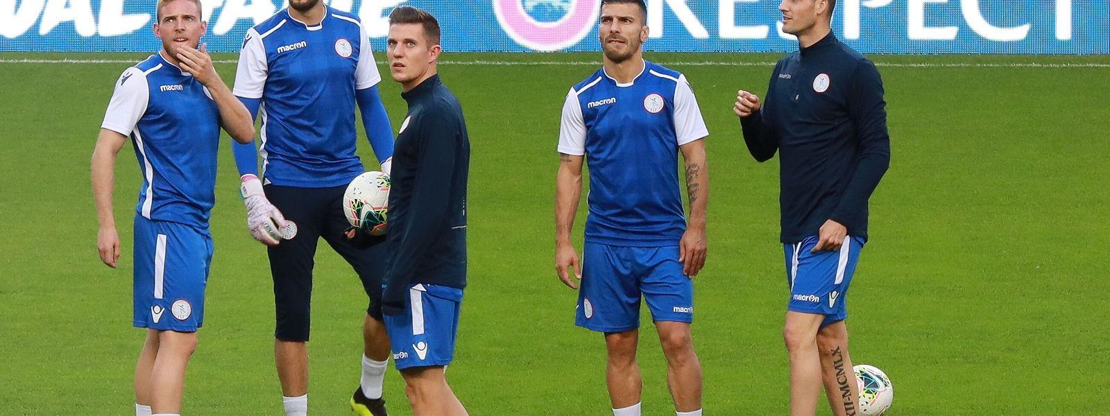 Am Mittwochabend trainieren die Nationalspieler im Stadion José Alvalade.