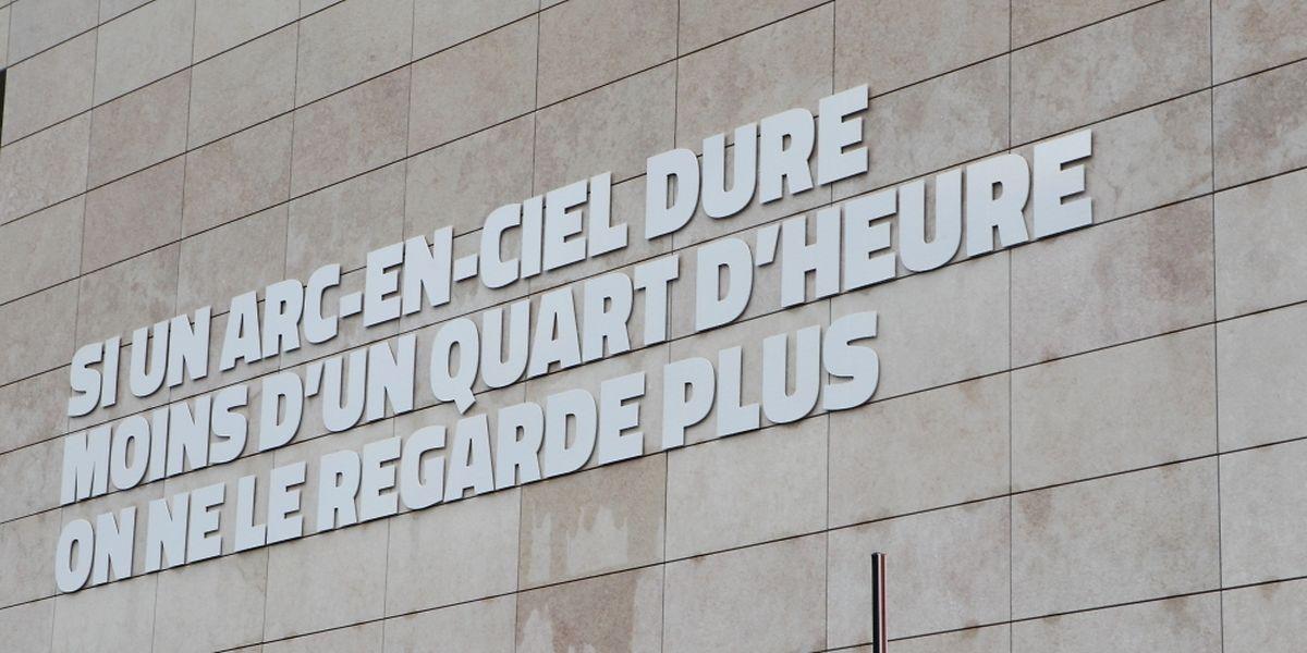 """Die Fassade der """"Philanthropie"""" in Leudelingen, dem Sitz der Stiftung """"Oeuvre Nationale de Secours Grande-Duchesse Charlotte""""."""