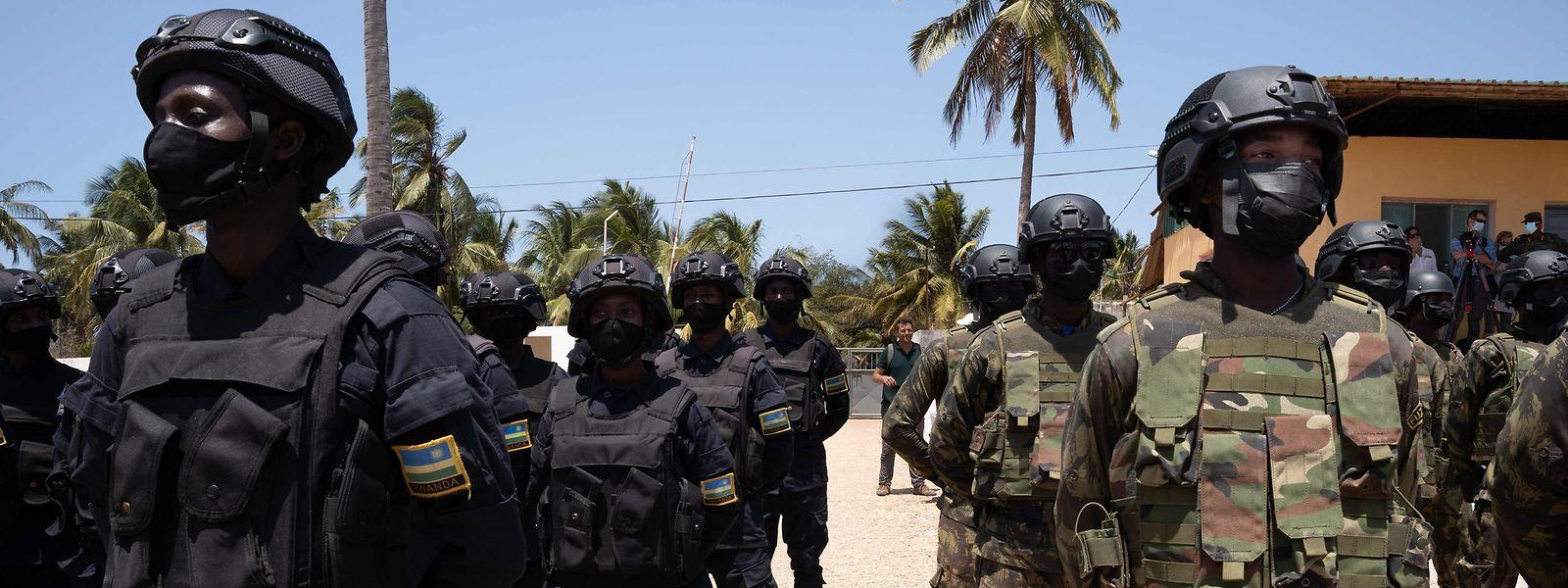 Tropas do Ruanda e de Moçambique uniram esforços para combater a violência de grupos extremistas em Cabo Delgado.