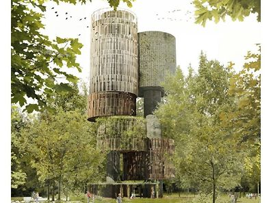 Composed of two tanks, the 50-metre tall tower will have a total capacity of 1,000m3.