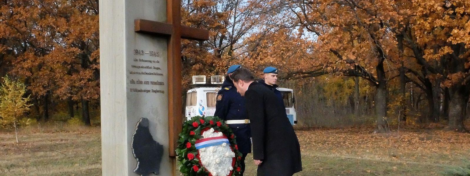 Das Mahnmal in Tambow erinnert an das Schicksal der 1.021 Zwangsrekrutierten, die im Lager 188 inhaftiert waren.