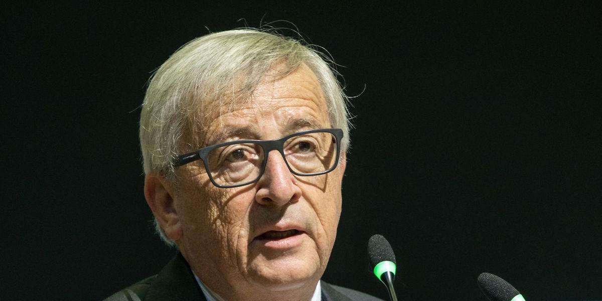 O luxemburguês Jean-Claude Juncker, Presidente da Comissão Europeia, esta sexta-feira na UNI.